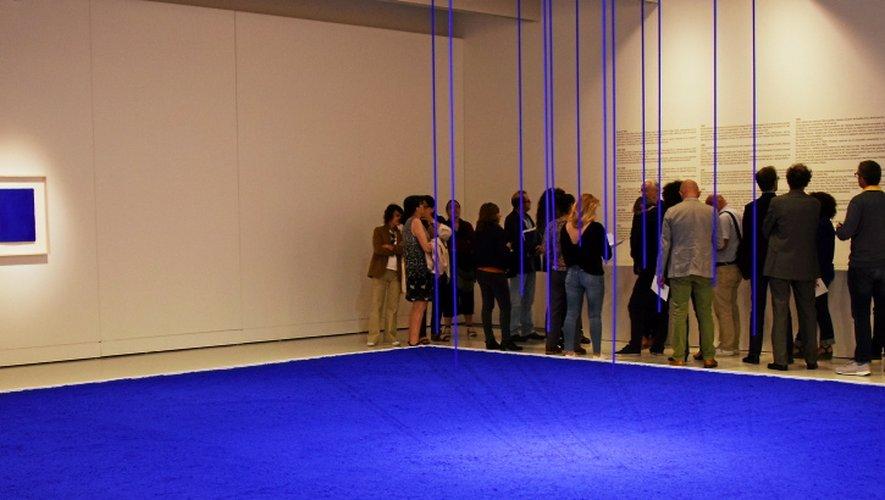 L'expo Yves Klein arrive à sa fin.