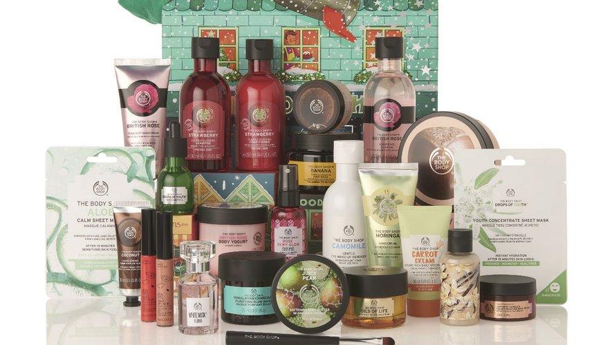Le calendrier de l'Avent The Body Shop - Prix : 120 euros - Site : www.thebodyshop.com.