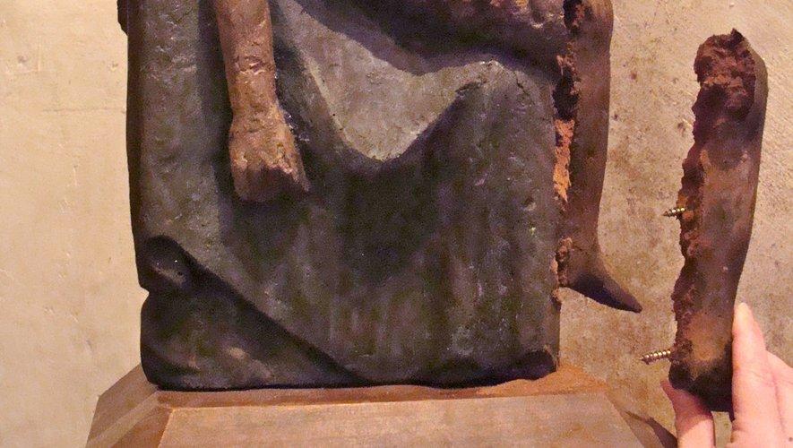La Pietà de Mousset était en bien piteux état