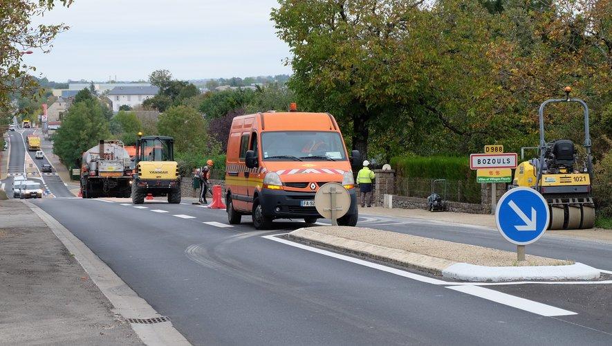 Travaux de sécurité sur la départementale D 988.