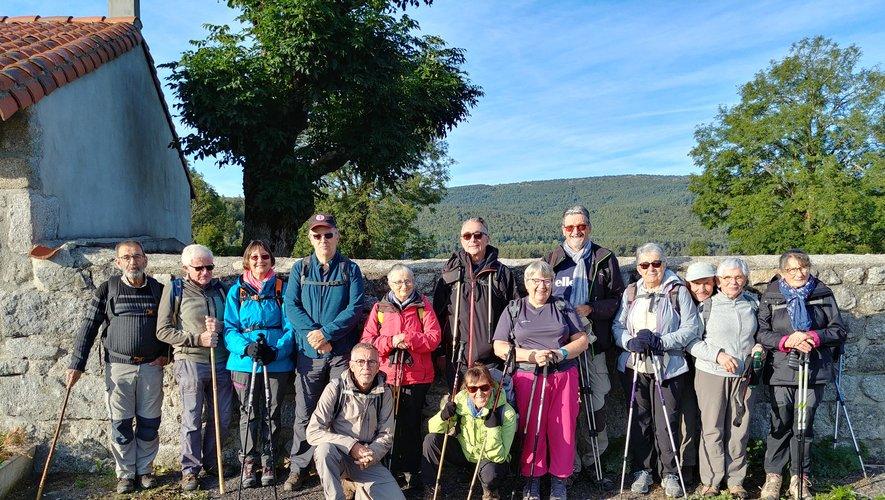 Les randonneurs ont profité d'un temps idéal pour ces quatre jours de randonnée.