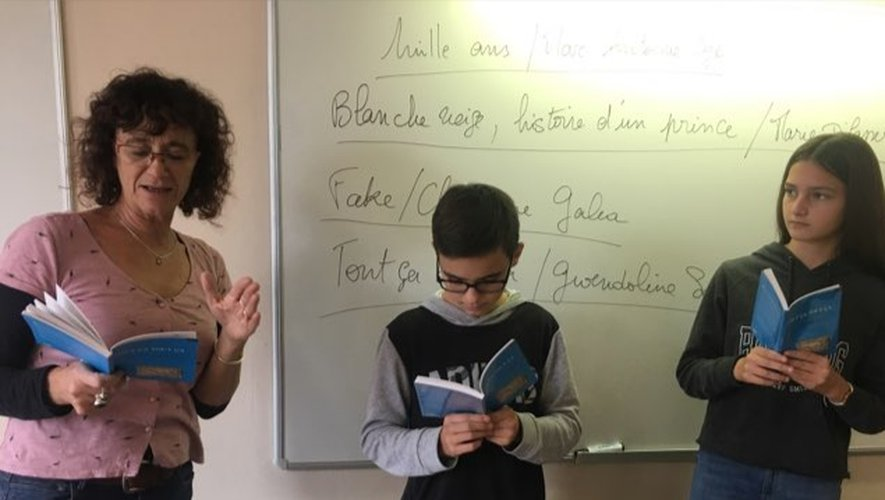 Pascale, créatrice du prix Collidram et les collégiens.