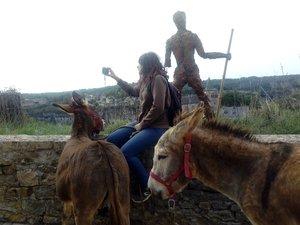 En se baladant avec les ânes on peut prendre des clichés du paysage.