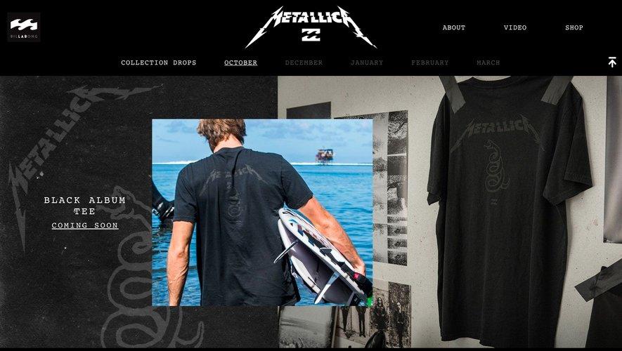 """La collection """"Metallica X Billabong"""" sera connue dans son intégralité en mars 2020"""
