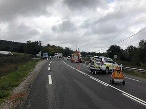Un mort et deux blessés le 4 octobre, tournée de Campeyroux sur la RN 88, entre Canabols et Gages.