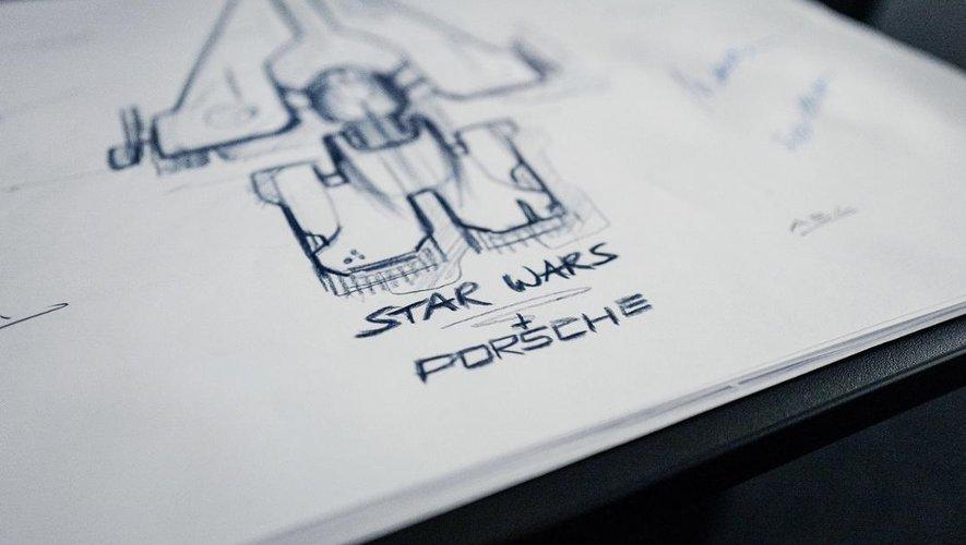 Porsche et Lucasfilm fabriquent ensemble un vaisseau spatial pour la sortie de Star Wars Episode 9.