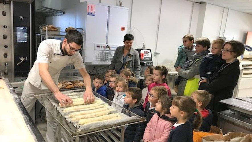 Les écoliers de Jacques-Prévert en visite chez le boulanger