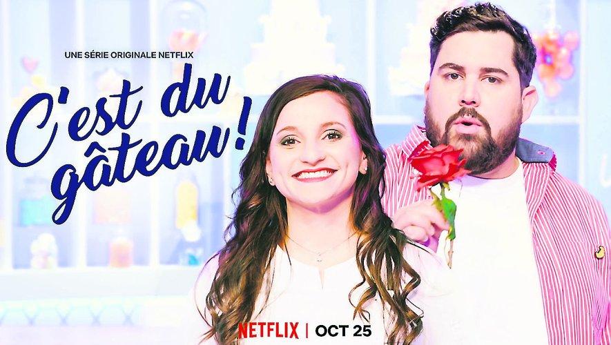 La chef Noémie Honiat et l'humoriste Artus présentent « C'est du gâteau » aujourd'hui sur Netflix.