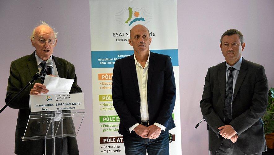 Bernard Vayssade, Éric Tarroux et Didier Perrot.