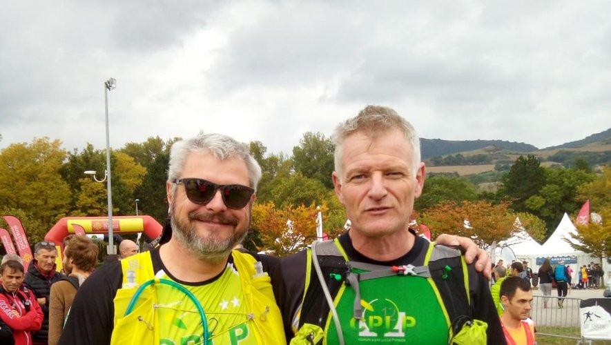 Arnaud et Fabrice, les deux compères du marathon du Causse.