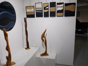 Peintures et sculptures de Bernard Monestier à aller découvrir à la galerie Trame d'Arts à Salles la Source.