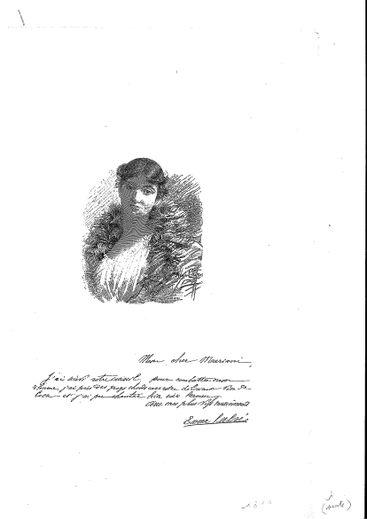 Le courrier adressé par Emma Calvé à Angelo Mariani.