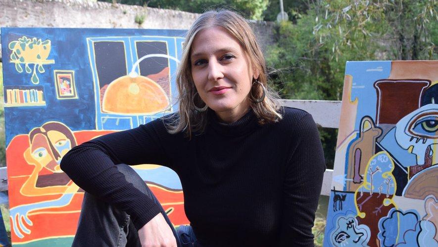 Sarah Butsavage partage son temps entre Toulouse et son havrede paix du moulin du Roualdesq, aux confins de Flavin et Trémouilles.