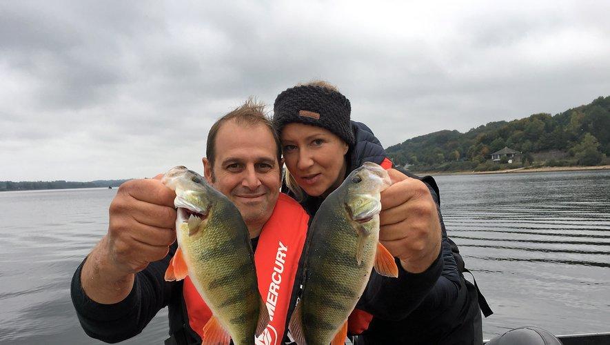 Le couple à la ville et sur le bateau, Valérie et Fabrice Velasquez, obtient la 5e place et le bonus du plus gros brochet capturé.