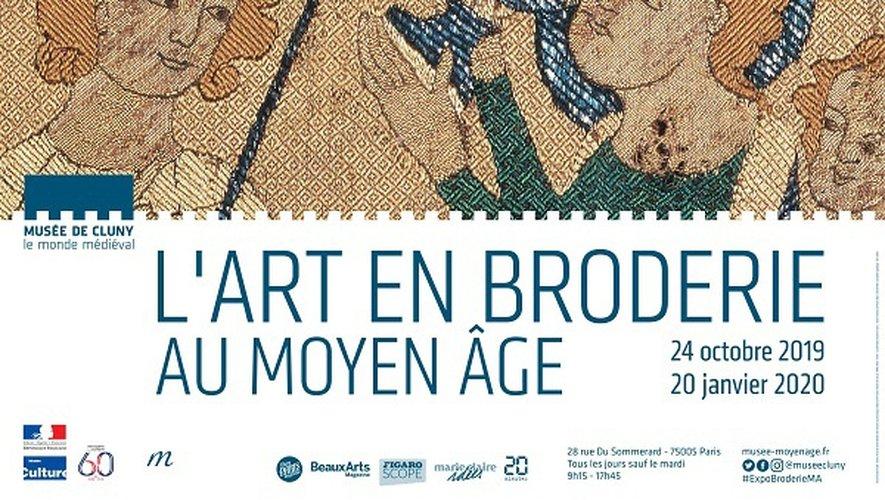 """""""L'art en broderie au Moyen âge"""" au Musée de Cluny"""