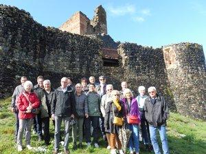 Le ciel s'était dégagé pour la visite du château de Calmont.