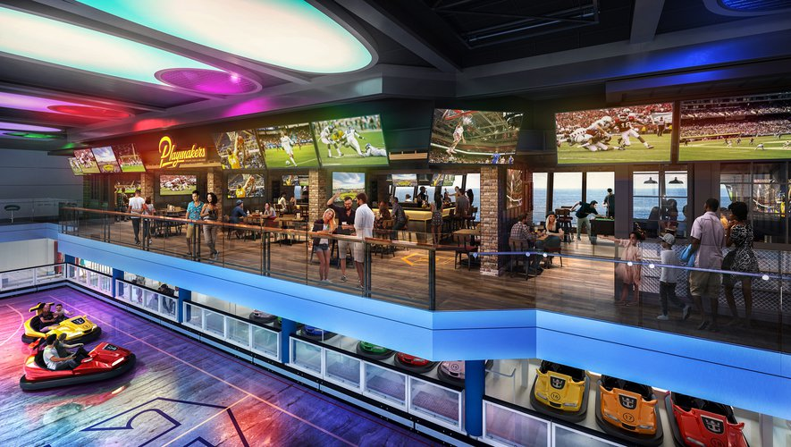 Odyssey of the Seas : bar sportif Playmakers et arcade