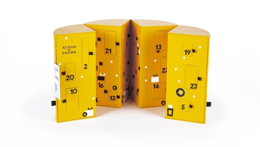Le calendrier de l'Avent Acqua di Parma - Prix : 370 euros - Site : www.acquadiparma.com.