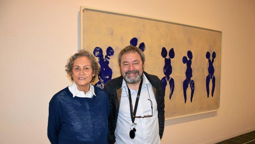 Rotraut Uecker et Benoît Decron.