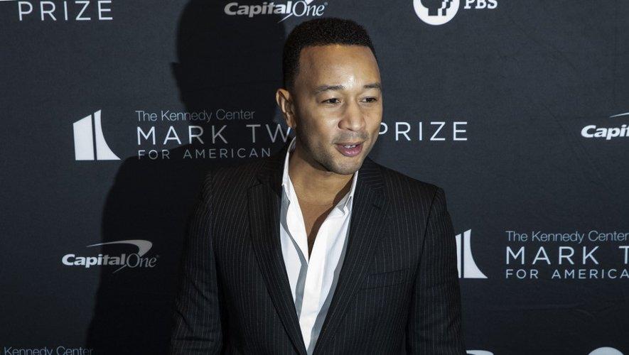 Le chanteur John Legend arrive au Kennedy Center pour le prix Mark Twain, le 27 octobre 2019 à Washington (États-Unis).