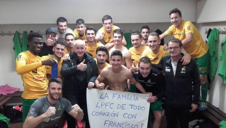 Les footballeurs ont dédié leur victoire contre Figeac à Francisco.