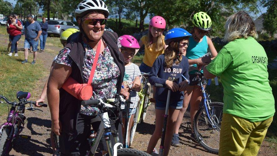 Le vélo fut à la fête sur l'Aubrac lors de « L'échappée verte ».