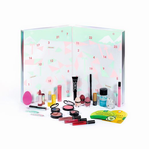 Le calendrier de l'Avent Sephora Collection - Prix : 49,99 euros - Site : www.sephora.fr.