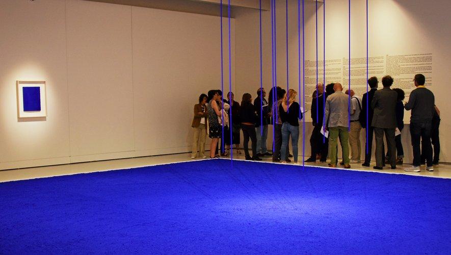Le bleu d'Yves Klein tirera  sa révérence ce dimanche soir, au musée Soulages.