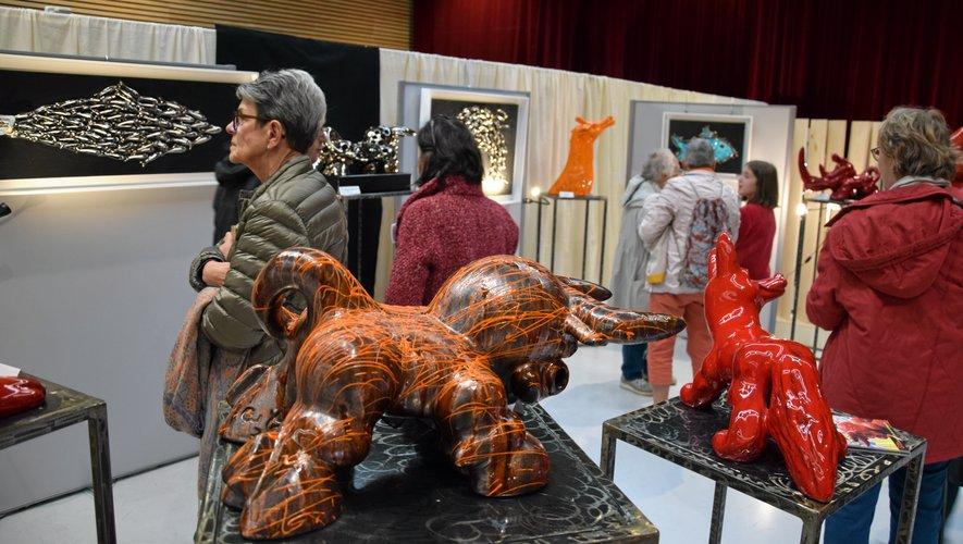 Le Salon des métiers d'art d'Occitanie est ouvert à la salle des fêtes de Rodez de 10heures à 19heures.