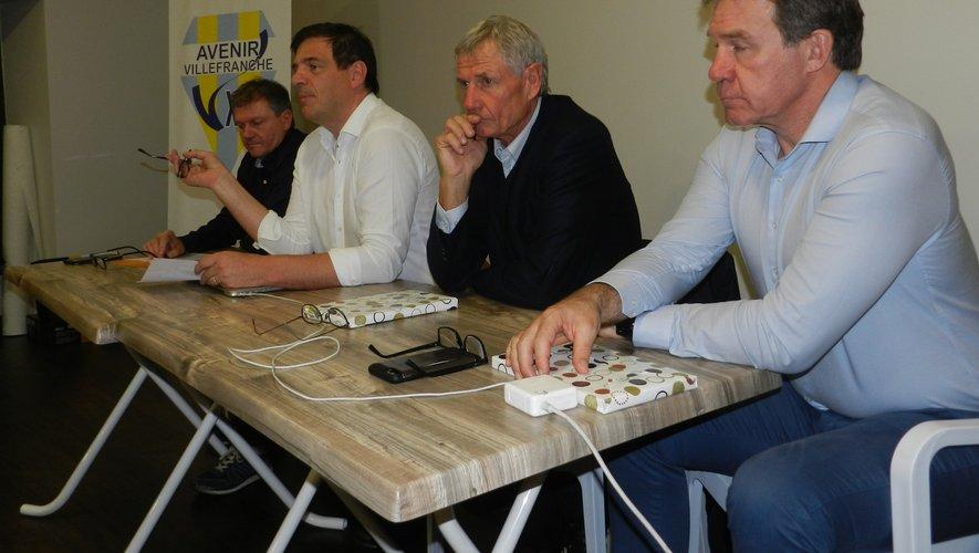 De gauche à droite : Jean Charles Mascetti, Florian Grill, Jean-Claude Skrela et Jean Marc Lhermet./Photo DDM