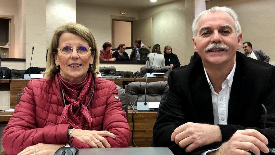 Annie Cazard et Vincent Alazard, conseillers départementaux du canton Aubrac et Carladez.