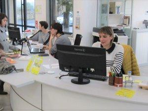 Agnès, Audrey et Valérie, les trois hôtesses de ce nouvel espace culturel.