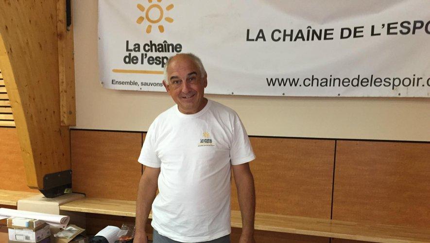 Alain Daures dévoué bénévole pour la Chaîne de l'espoir.