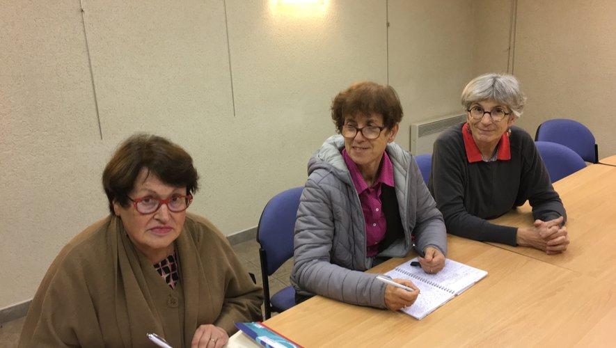 De gauche à droite : Colette Nayrolles, Françoise Buée, Sophie Mairiniac.
