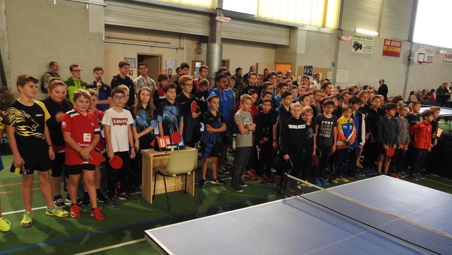 Ces jeunes pongistes participaient, dimanche, à la première manche  du Challenge du Conseil départemental.