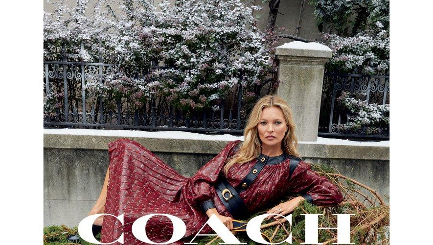 Coach présente sa campagne de fin d'année avec Kate Moss.