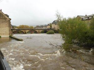 Des débordements de la rivière Lot  pourraient avoir lieu en Aveyron.