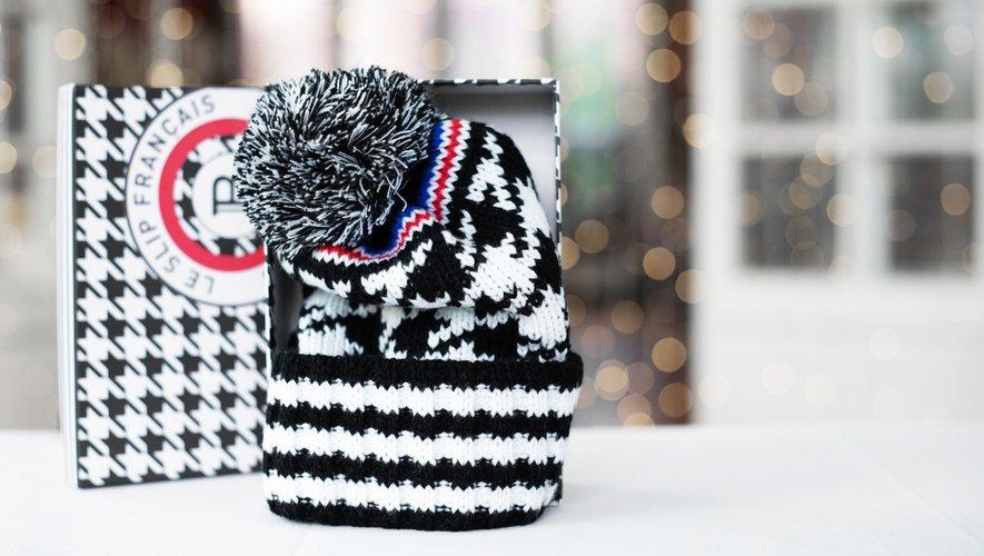 Le bonnet issu de la collaboration entre Le Slip Français et Balmain au profite de l'AFM-Téléthon.