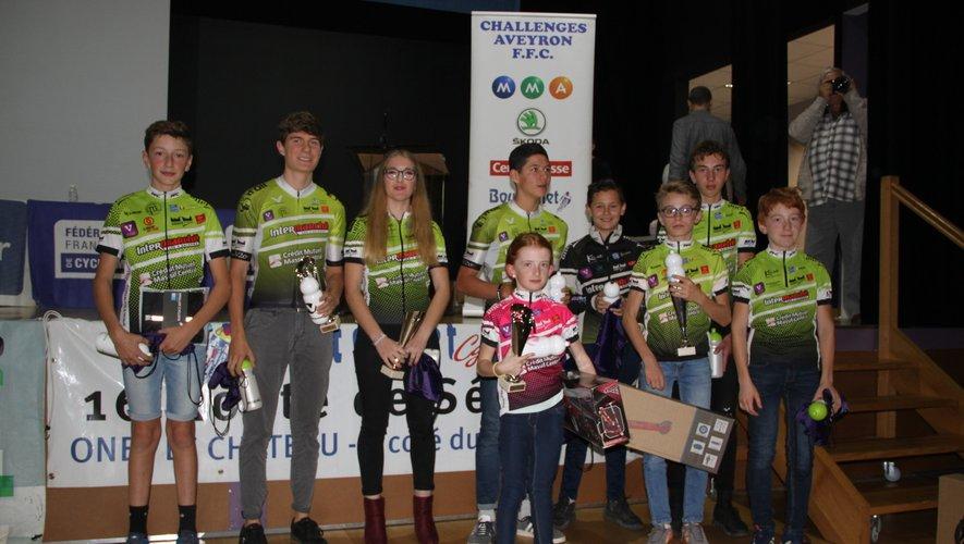 Les jeunes de Vélo 2000 ont été récompensés.