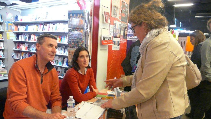 Valentine Kalfon-Delpontet Philippe Agopian avecune lectrice.