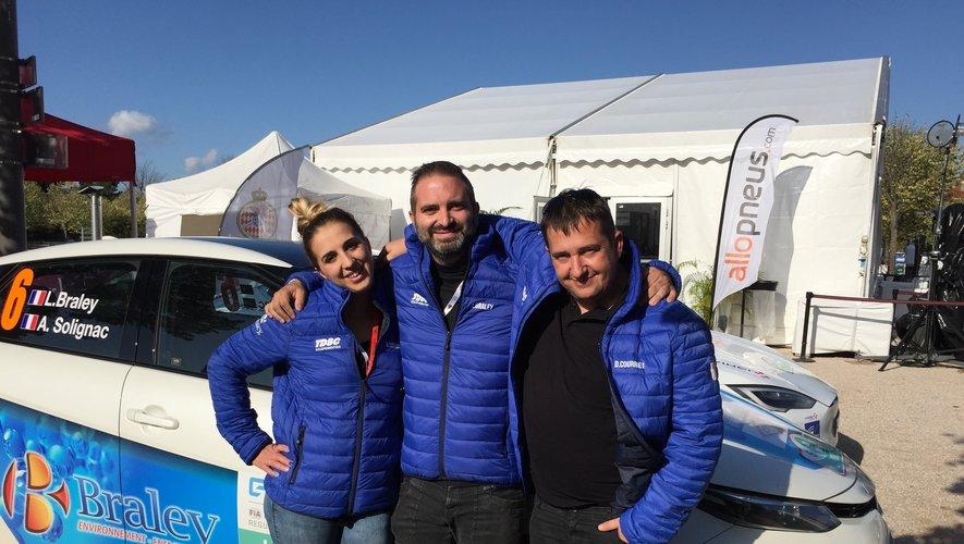 Aurore, Ludovic et David (assistance) lors du E rallye Monte Carlo.