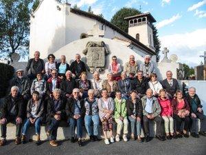 Le groupe devant une église typique basque./Photo DDM