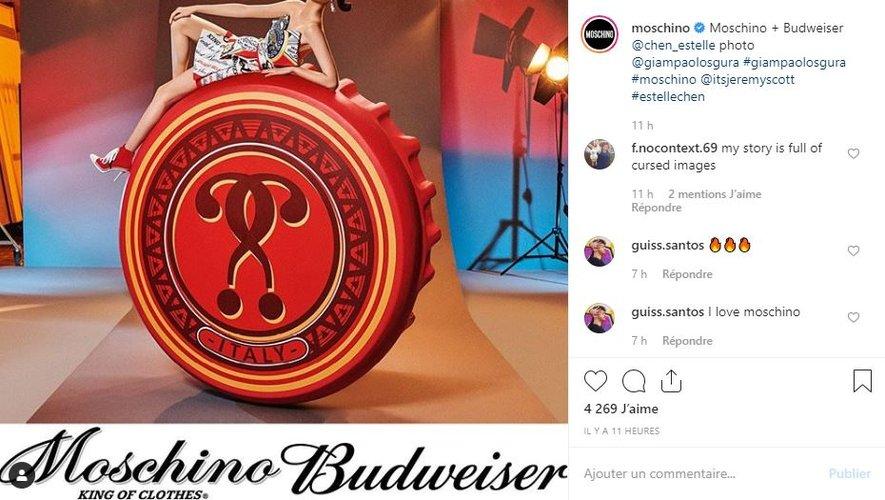 Moschino et Budweiser s'unissent autour d'une capsule de prêt-à-porter et d'accessoires.