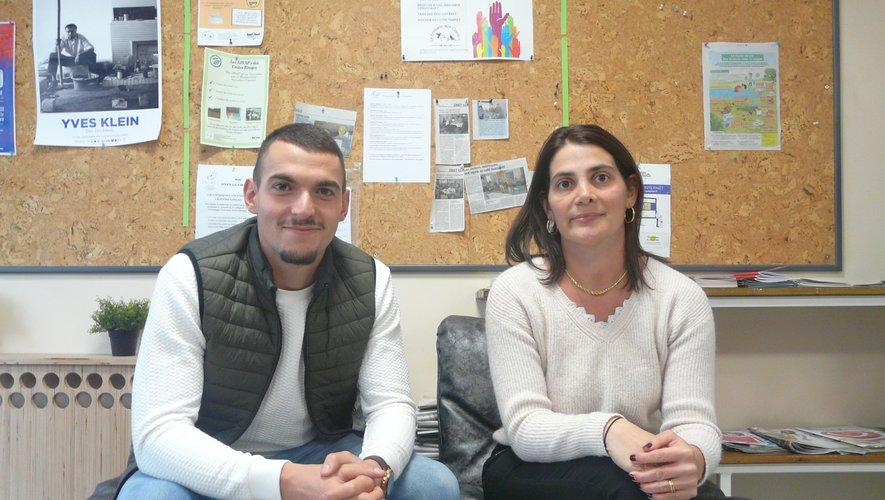Eva et Mickaël, les deux nouveaux animateurs du Café associatif.