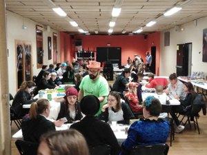 Les participants a la soiréee