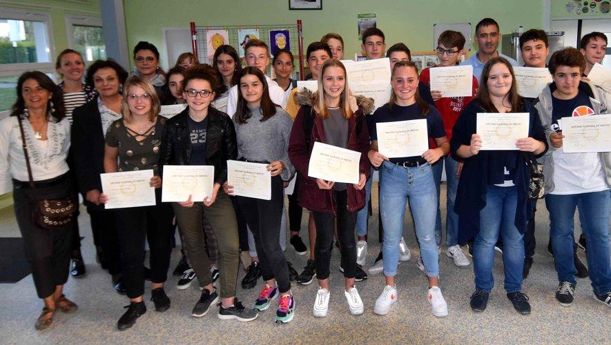 Les diplômés du brevet des collèges 2019.