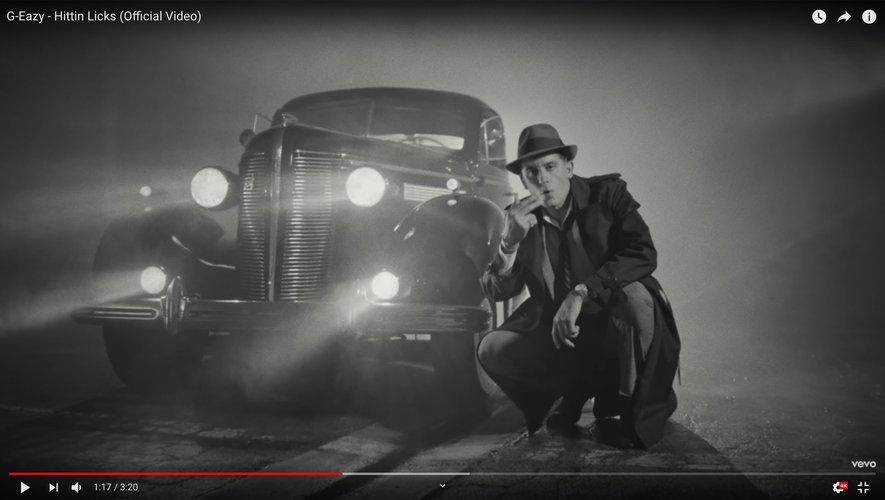 "G-Eazy dans son dernier clip ""Hittin Licks""."