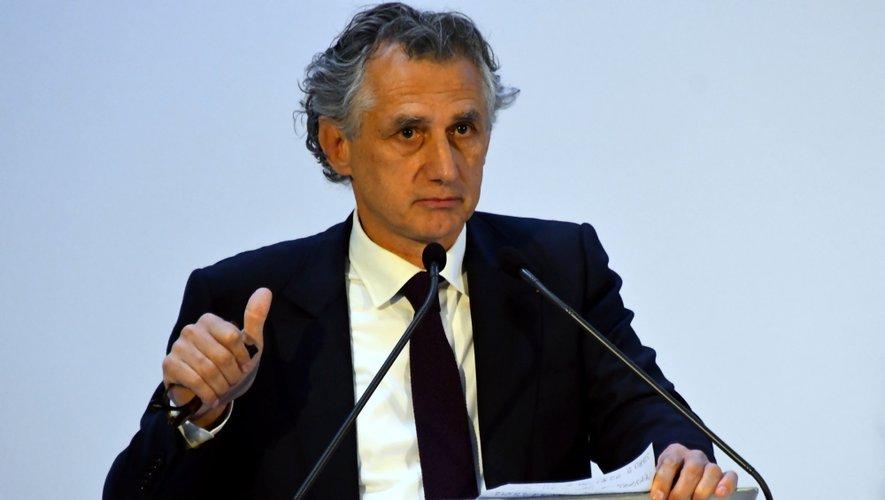 Jean-François Maillard, lors de la venue à Figeac Aéro, de la secrétaire d'Etat, Agnès Pannier-Runacher