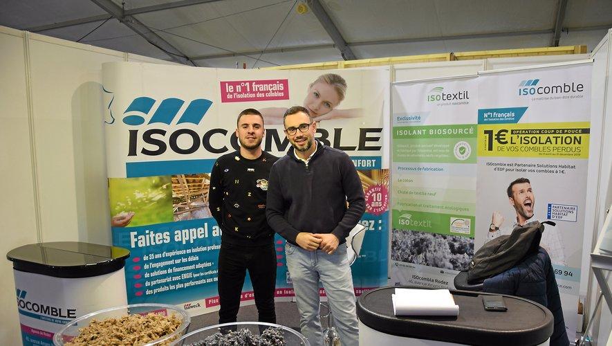 Brice et Jean-Christophe (à droite) commerciaux de la société Isocomble.