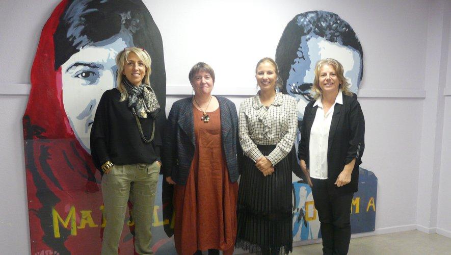 De gauche à droite Mmes Bouyssou (CPE), Prats (principale), Courtil (principale adjointe) et Solinhac (adjointe gestionnaire).